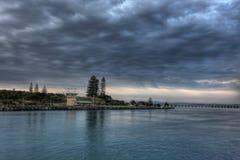 Seascape de Forster com nuvens Fotos de Stock