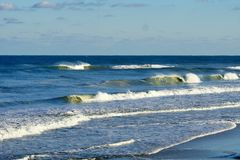 Seascape de Magnificant das praias de North Carolina imagens de stock