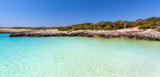 Seascape de Menorca Fotos de Stock Royalty Free