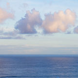 Seascape with deap blue ocean waters at sunrise Royalty Free Stock Photography