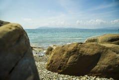 seascape denny brzeg dryluje zmierzch Seascape przy światłem słonecznym Obrazy Stock