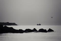 Seascape do Bw Fotografia de Stock Royalty Free
