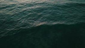 Seascape do cenário com opinião superior do fundo do por do sol video estoque