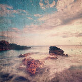 Seascape do Grunge Foto de Stock Royalty Free