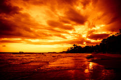 Seascape do por do sol Imagem de Stock Royalty Free