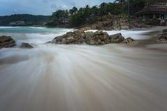 Seascape do tempo do dia foto de stock royalty free