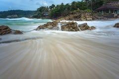 Seascape do tempo do dia imagem de stock