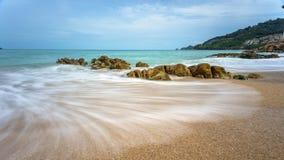 Seascape do tempo do dia imagens de stock royalty free