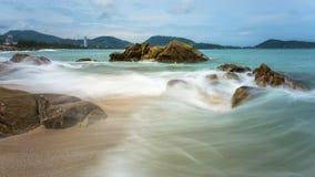 Seascape do tempo do dia fotografia de stock royalty free