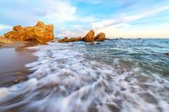 Seascape do tempo do dia fotos de stock