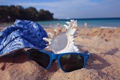 Seascape do verão na areia Imagens de Stock