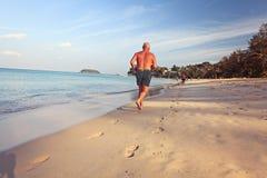 Seascape do verão na areia Imagem de Stock Royalty Free