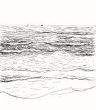 Seascape do verão do vetor Fotografia de Stock