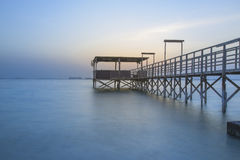 Seascape with Dock Stock Image