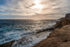 Seascape dramático Fotografia de Stock
