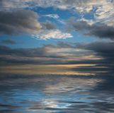 Seascape with dramatic sky Stock Photography