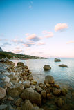 Seascape at dusk Royalty Free Stock Images
