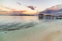 Seascape at dusk Stock Photography