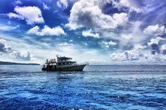 Seascape e céu dramático. Imagens de Stock Royalty Free