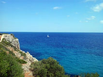 Seascape. From east coast, Mallorca, Spain Stock Photography