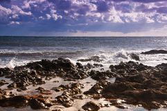 Seascape. Ebb. Royalty Free Stock Images