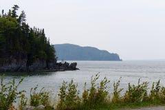 Seascape em um dia nevoento Imagens de Stock Royalty Free