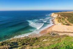 Seascape Ericeira Portugal. Royalty Free Stock Photo
