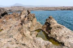 Seascape för kanariefågelö Royaltyfri Fotografi