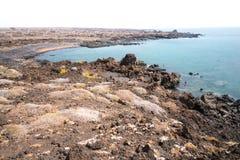 Seascape för kanariefågelö Arkivbild