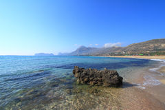 Seascape of Falasarna Crete Stock Photo