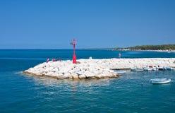Seascape. Fazana, Croatia Royalty Free Stock Photos