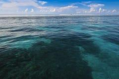 Seascape Filipinas palawan do recife de Tubbataha Imagem de Stock