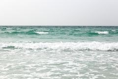 Seascape with flow. Sea flow on dull day royalty free stock photo