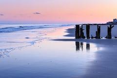 Seascape Folly Beach Low Tide South Carolina Stock Photography