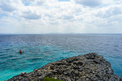 Seascape of Fortune island. Beautiful teal color water in Fortune Island of Philippines Stock Photos