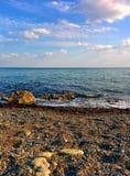 Seascape från Pebble Beach Royaltyfri Fotografi