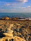 Seascape från Pebble Beach Royaltyfri Bild