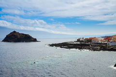 Seascape with Garachico old town Stock Photo