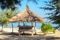 Seascape Gili Air, Indonesien Royaltyfria Foton