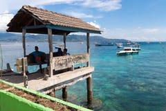 Gili Trawangan. Seascape of Gili Trawangan island, Indonesia Stock Photos