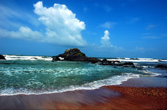 Seascape of Goa. A view of sea side of Goa.During the monsoon season stock images