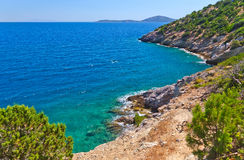 Seascape in Greece Royalty Free Stock Photography