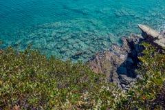 Seascape. Greece . Calm sea in the sunshine. Royalty Free Stock Photos