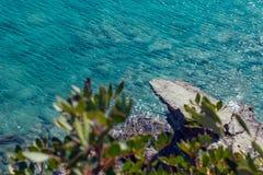 Seascape. Greece . Calm sea in the sunshine. Royalty Free Stock Photo