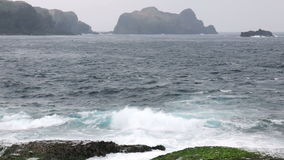 Seascape in Green Island, Taiwan. HD stock video footage