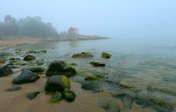 Seascape Grisslehamn - ομιχλώδες πρωί Στοκ Εικόνες