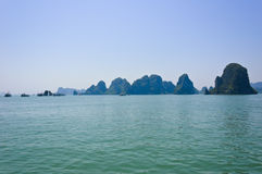 Seascape of Halong bay Royalty Free Stock Images