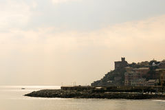 Seascape and the harbor of Genova, Italy Royalty Free Stock Image