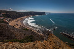 Seascape with high cliffs Royalty Free Stock Photography
