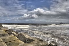 Seascape Holland Royalty Free Stock Photo